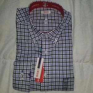Izod Classic Fit Men's Button Down Plaid Shirt